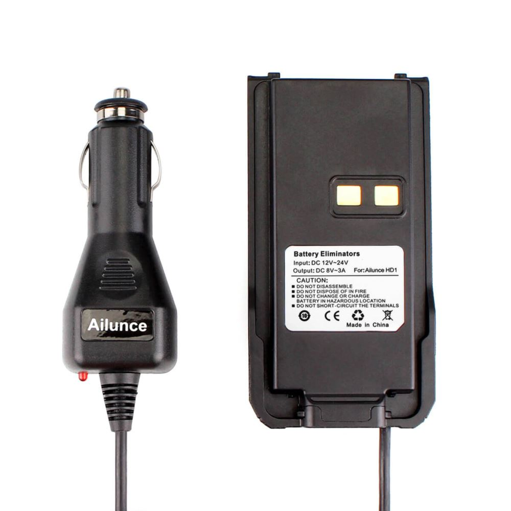 Car Charger Battery Eliminator 12V-24V for Ailunce HD1 DMR Radio