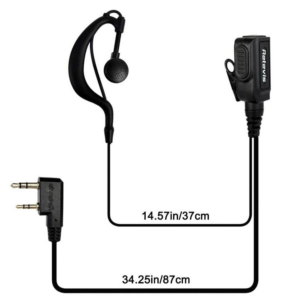 G-type Ear-hook Earpiece for High Power RT1
