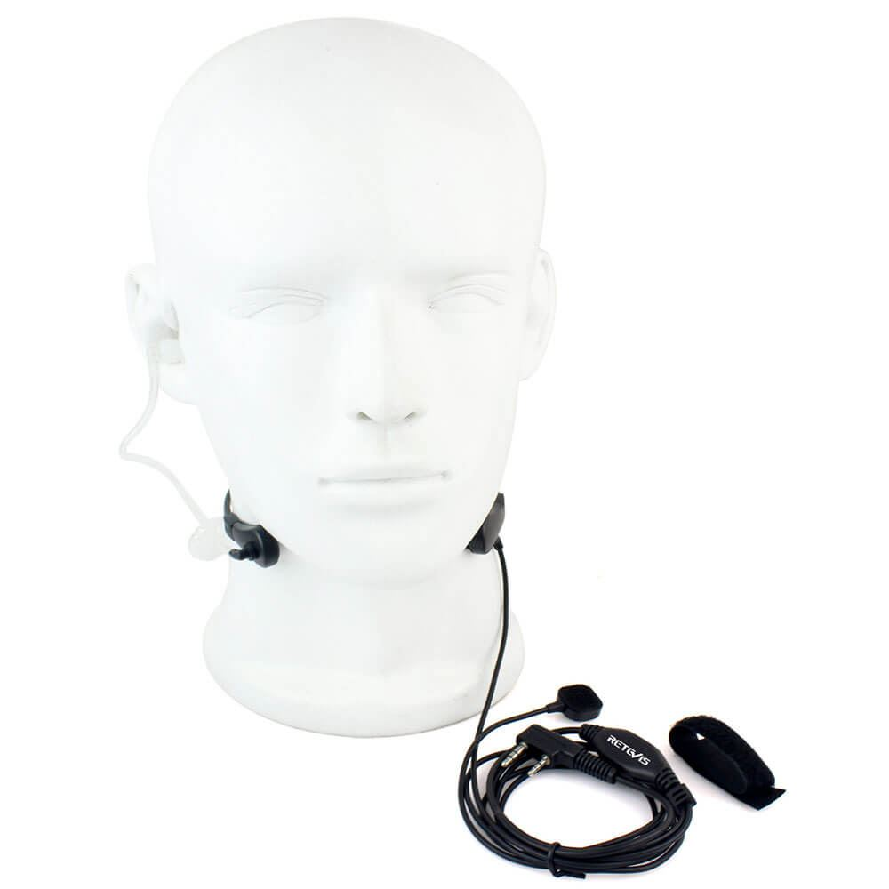 Throat MIC Covert Acoustic Tube Earpiece PTT