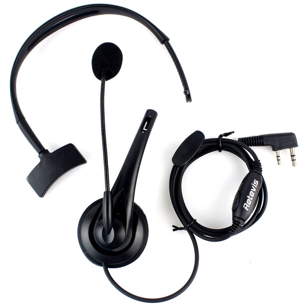 2 PIN PTT Mic Headphone Headset for Radio WOUXUN