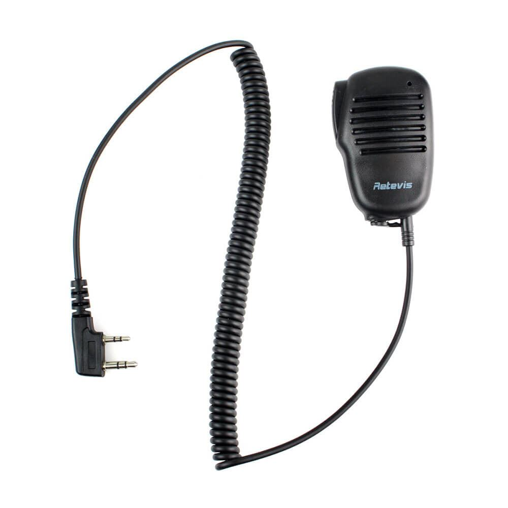 2 Pin Mini PTT Speaker Mic For Radio KENWOOD RETEVIS PUXING HYT