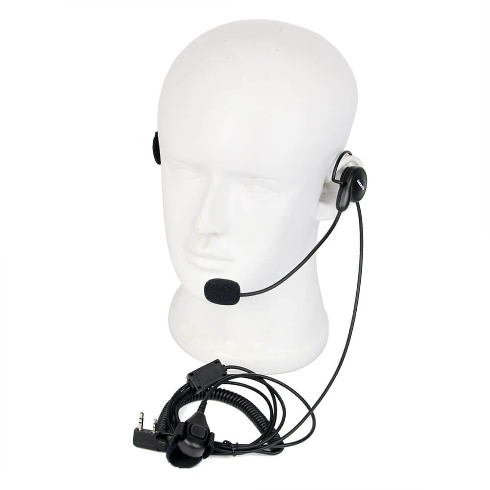 2Pin PTT Mic Earpiece Headset for Retevis H777 Kenwood Baofeng TYT HYT Radios US