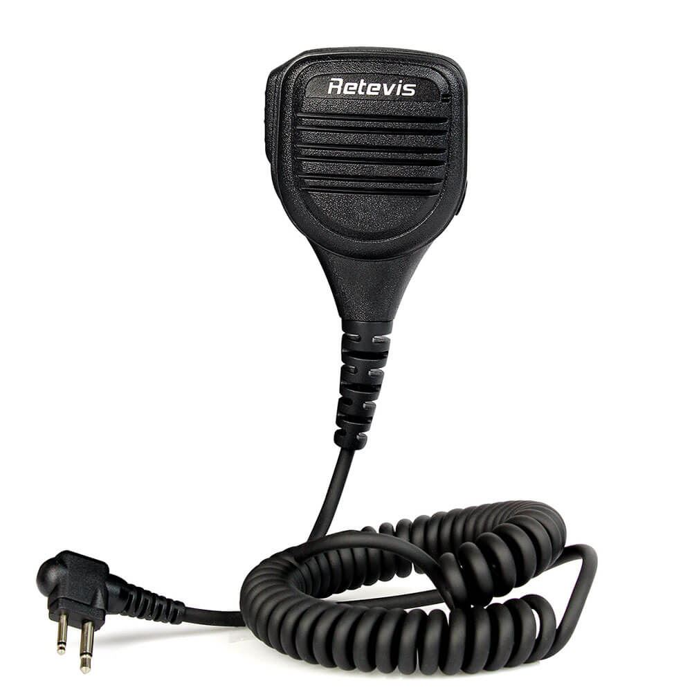 Retevis 2 Pin Speaker Mic for Motorola Radio