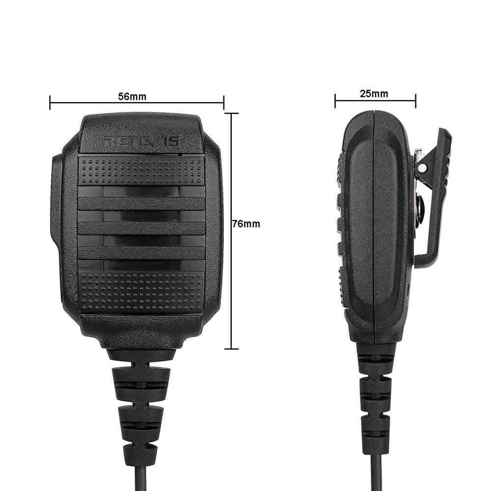 RS-114 IP54 Speaker Microphone 2 PIN