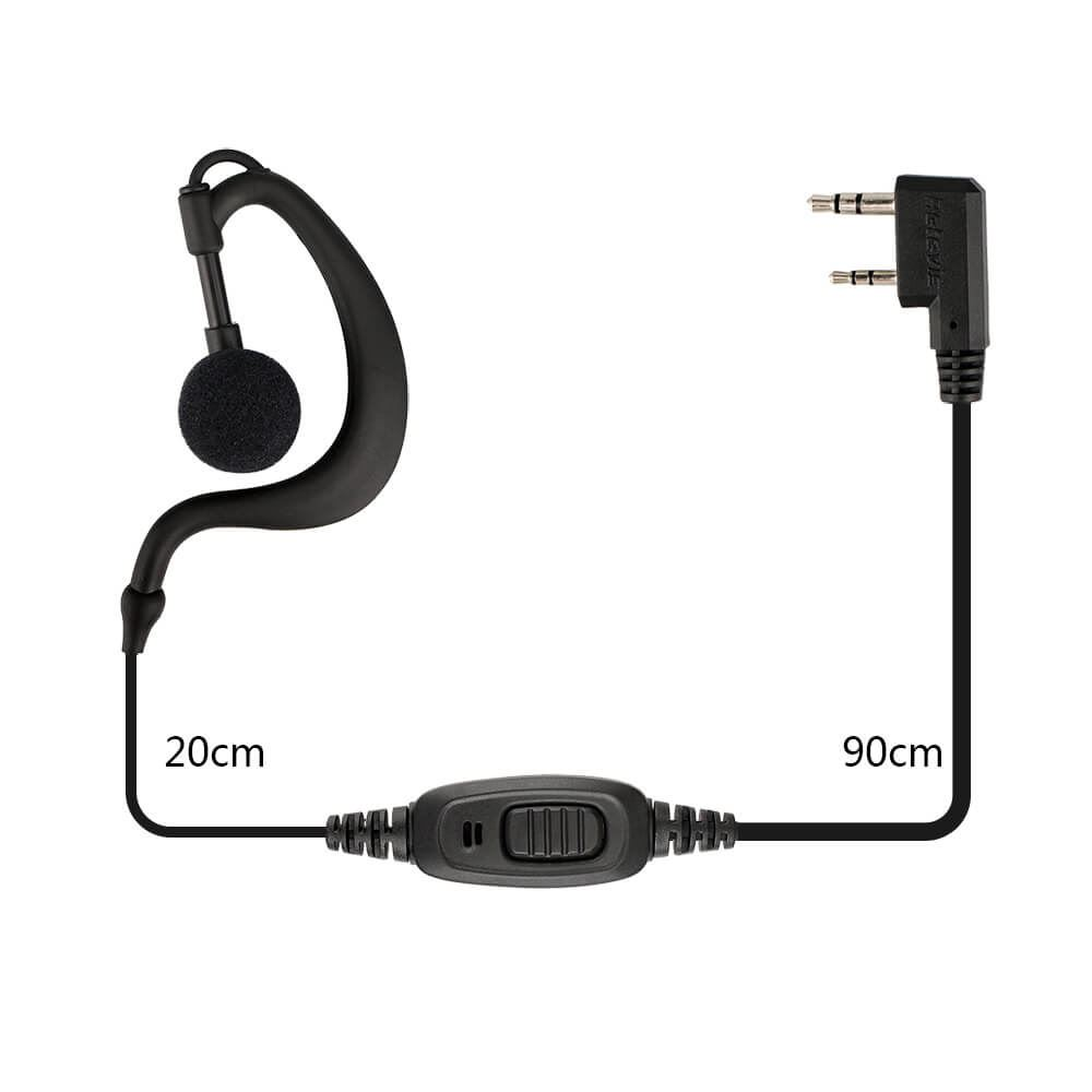 RE-3120 C-type Earhook Earpiece