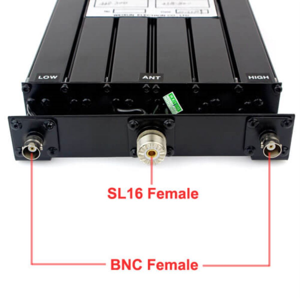 25W UHF 6 Cavity Duplexer for Radio Repeater N-connector 380-470MHz
