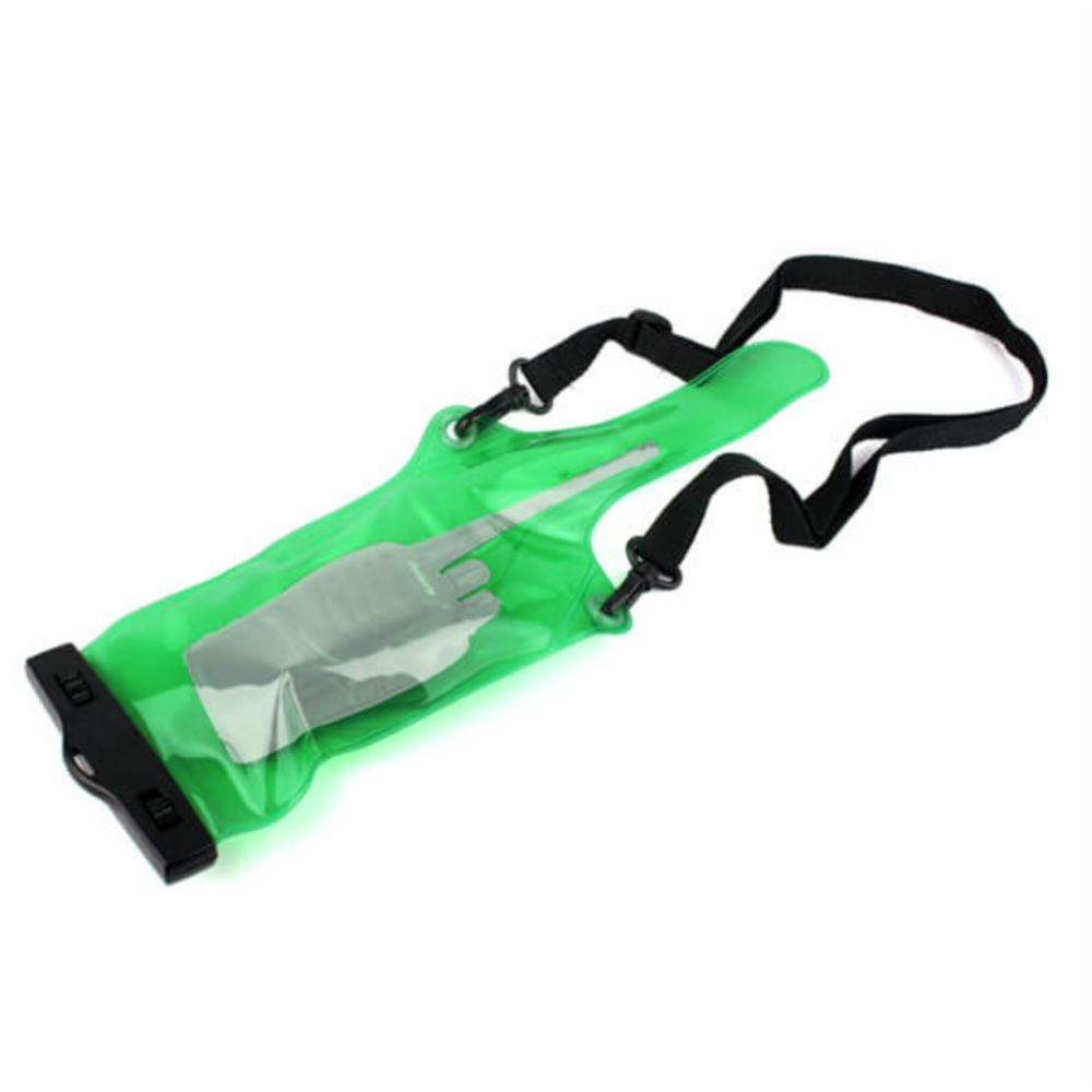 Universal Green Waterproof Sets/Holster for Walkie Talkie Radio