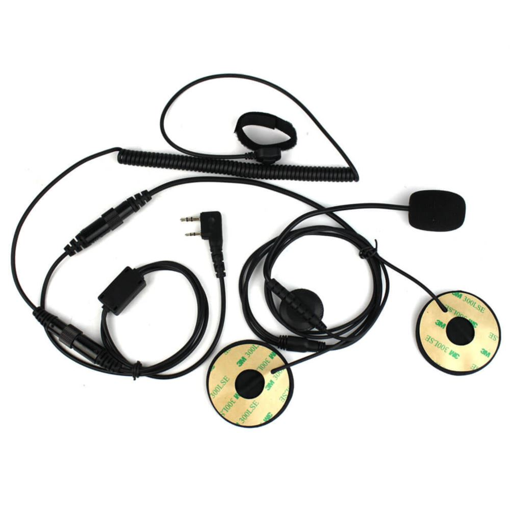 2-Pin Finger PTT Motorcycle Helmet Headset Mic