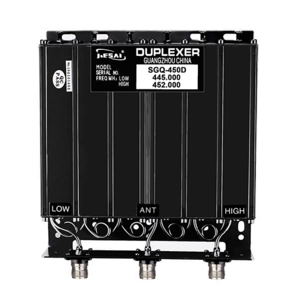 50W UHF 6 Cavity Duplexer for Radio Repeater N-connector 380-470MHz