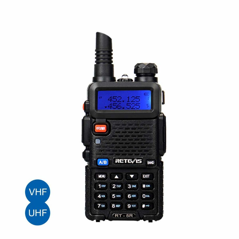 RT5R Walkie Talkie 5W 128CH UHF+VHF FM Radio Two Way Radio