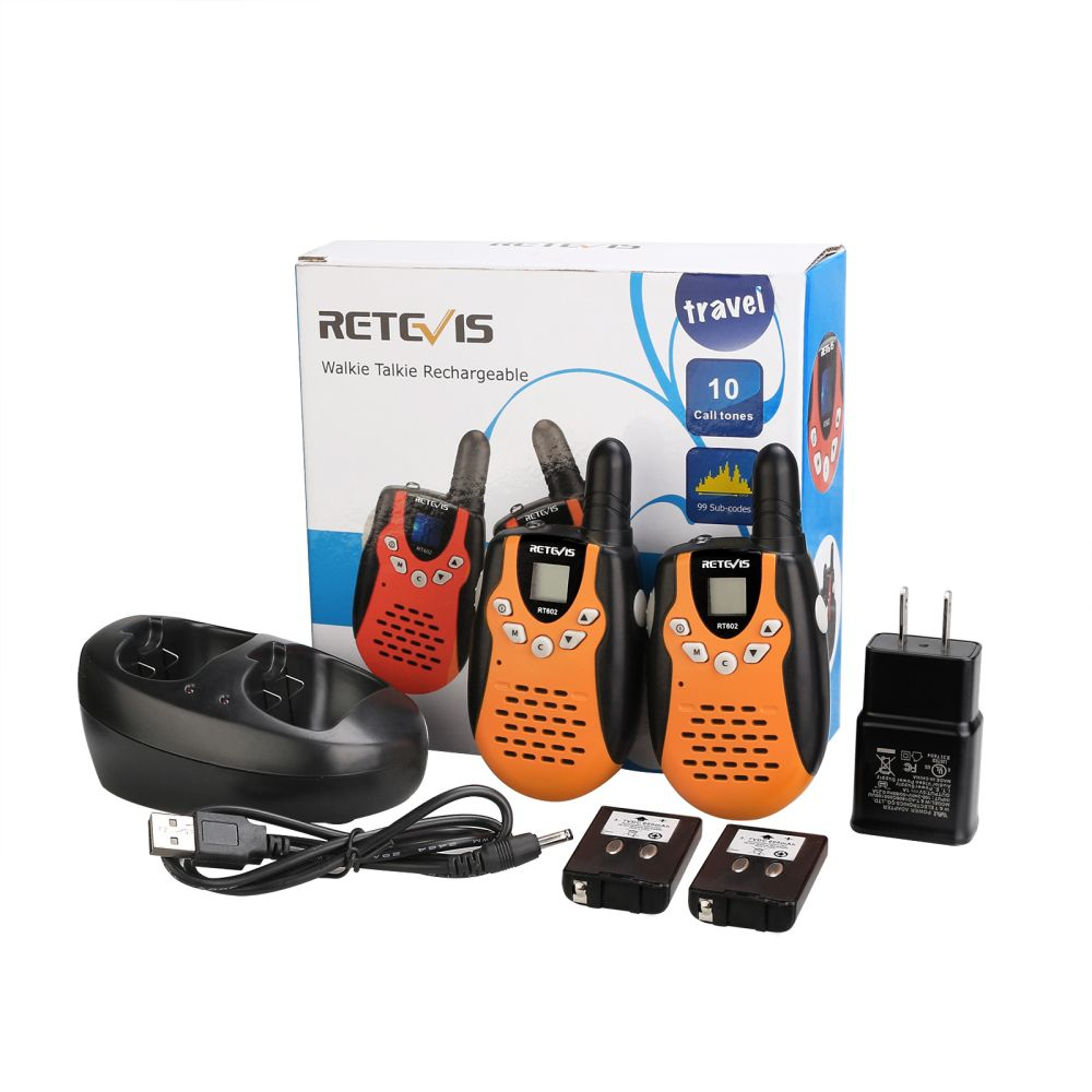 New Orange Rechargeable Two-way Radio