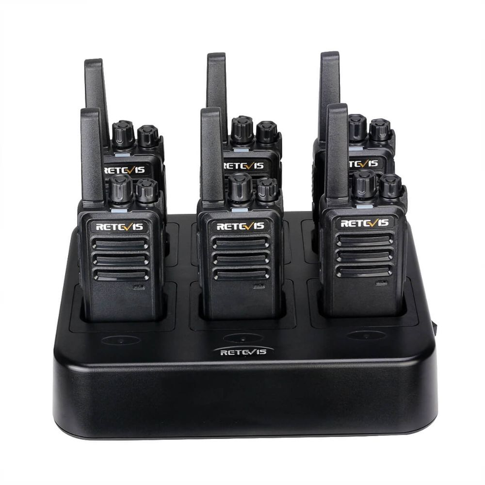 Retevis RT68/RT668 2W Two Way Radio(6 Pack) with 6 Way Multi unit Charger