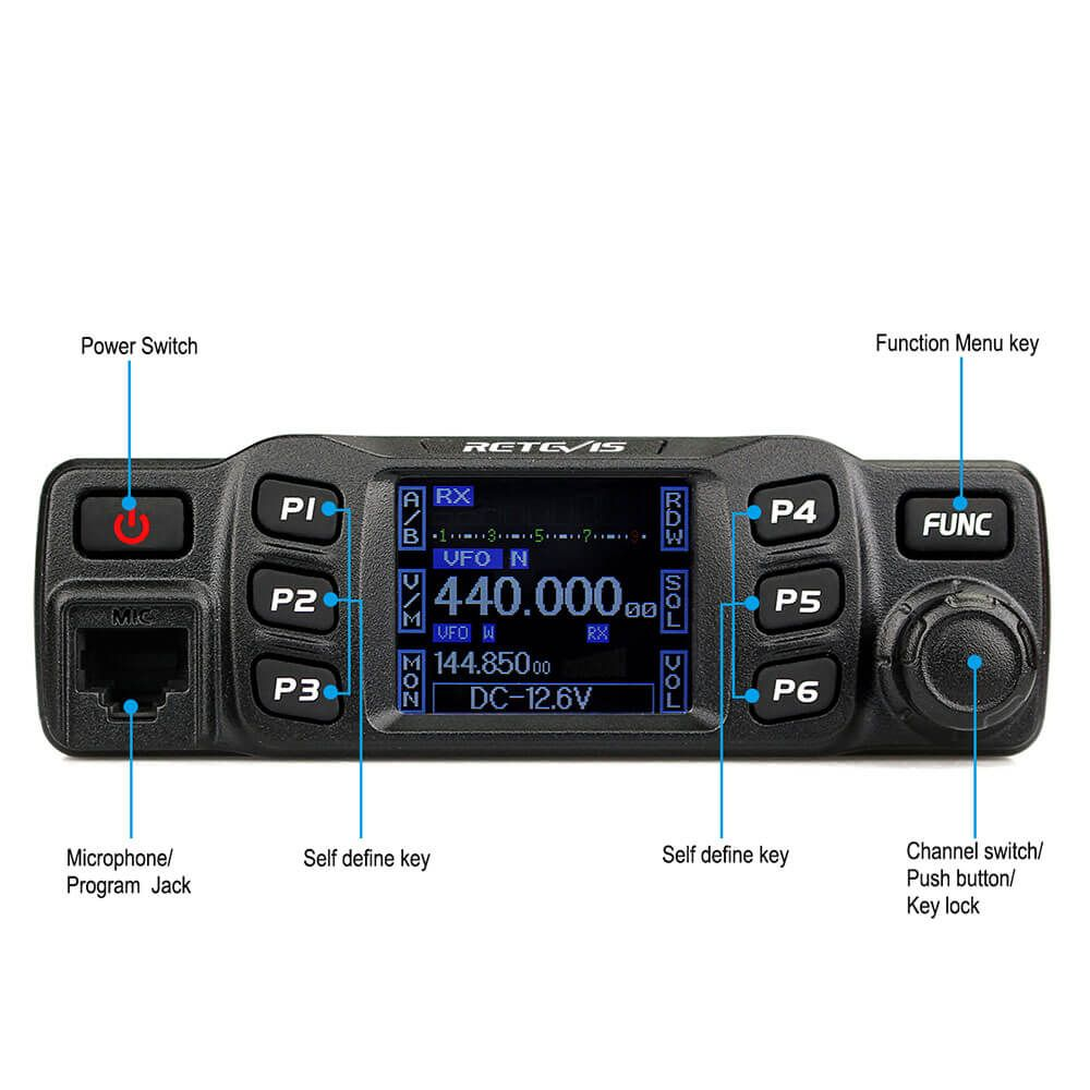 RT95 Dual Band HAM Mobile Radio US version