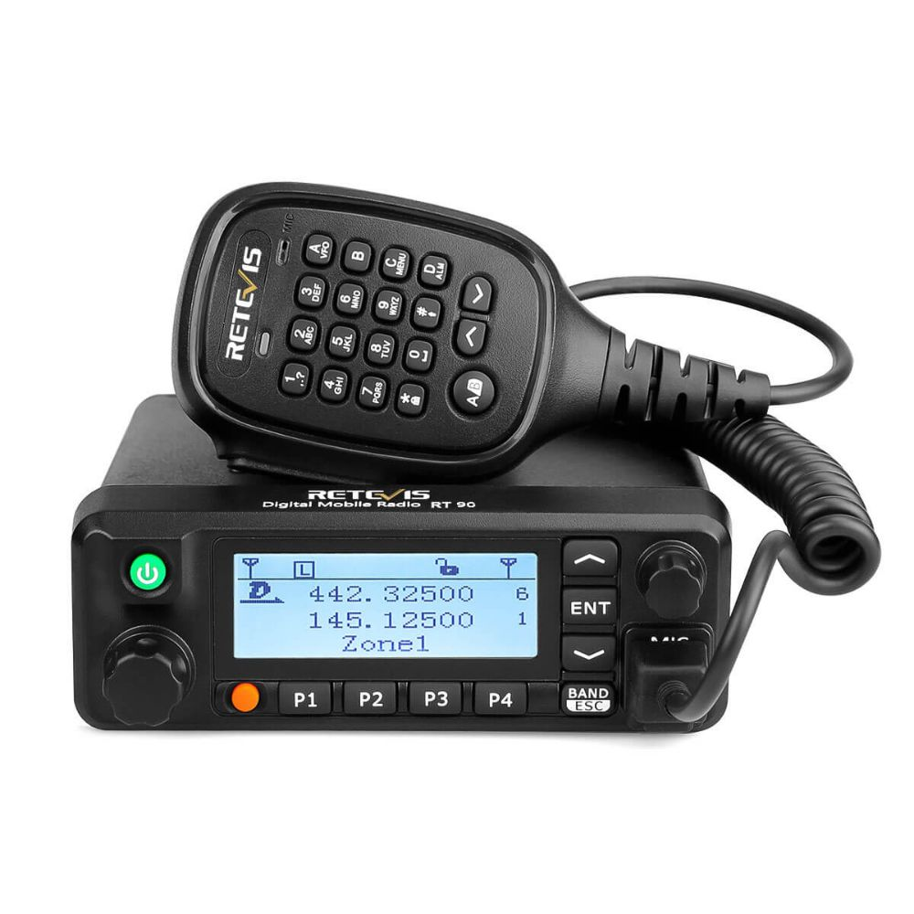 RT90 Full-power DMR Dual Band Mobile HAM Radio Built-in GPS