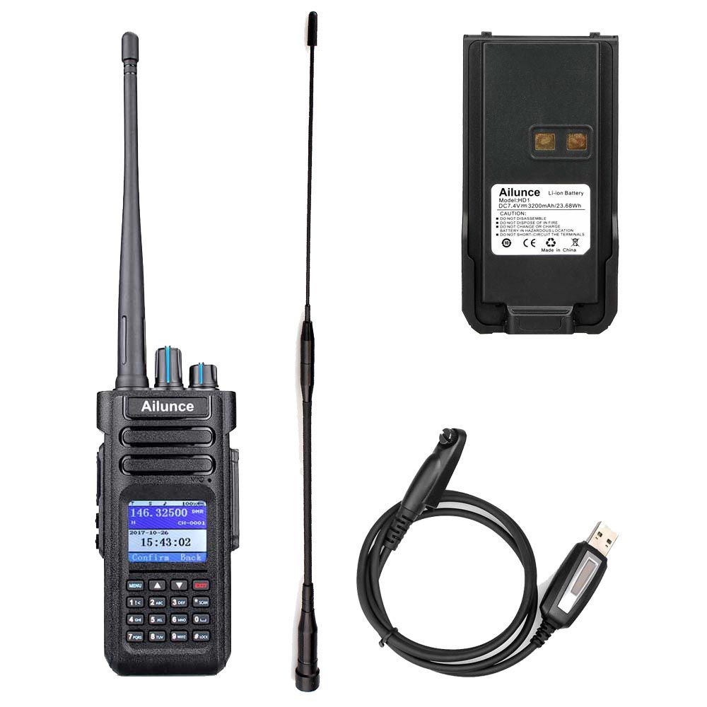 HD1GPS+Programming Cable +Long Antenna+Battery