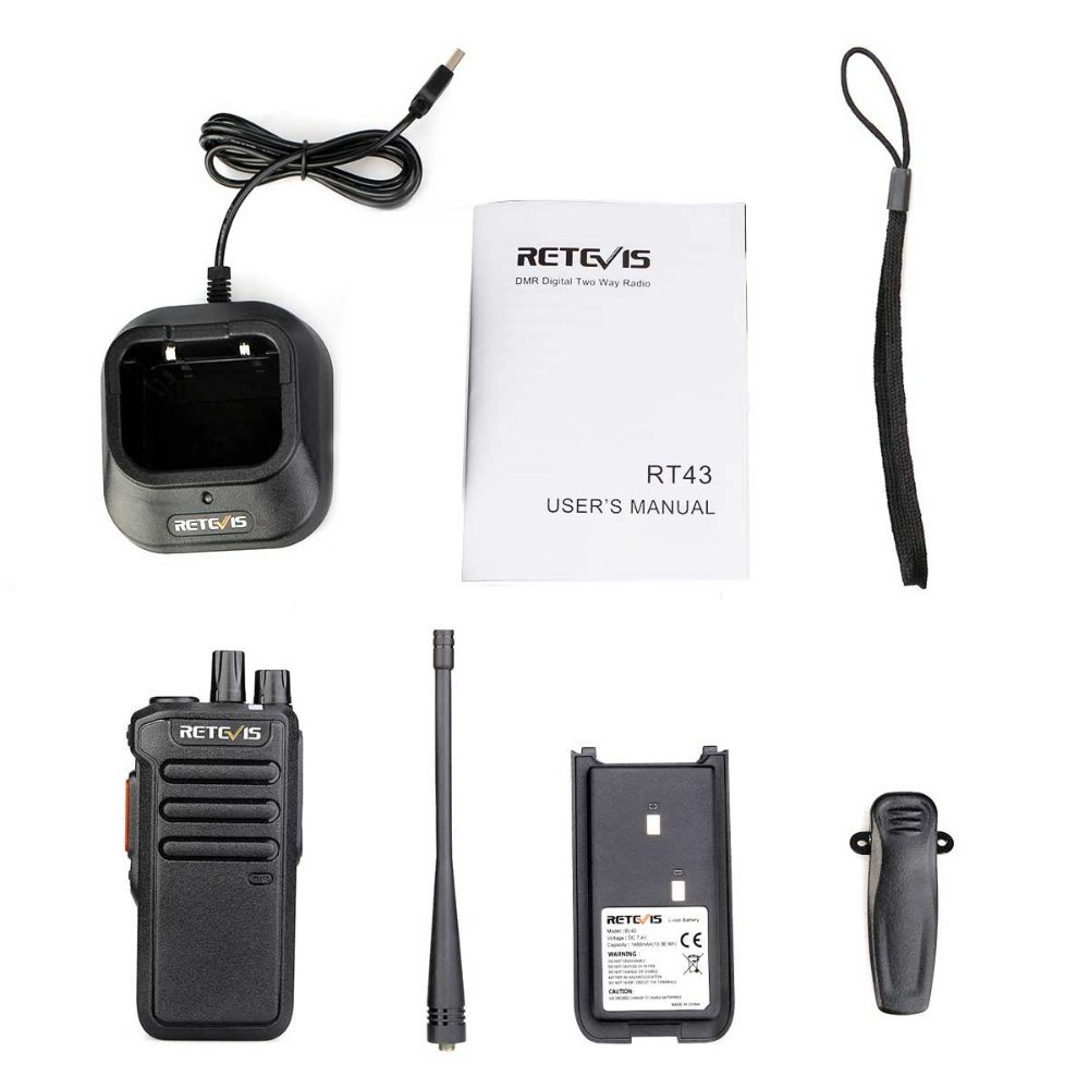 RT43 Digital  signaling function UHF DMR Radio