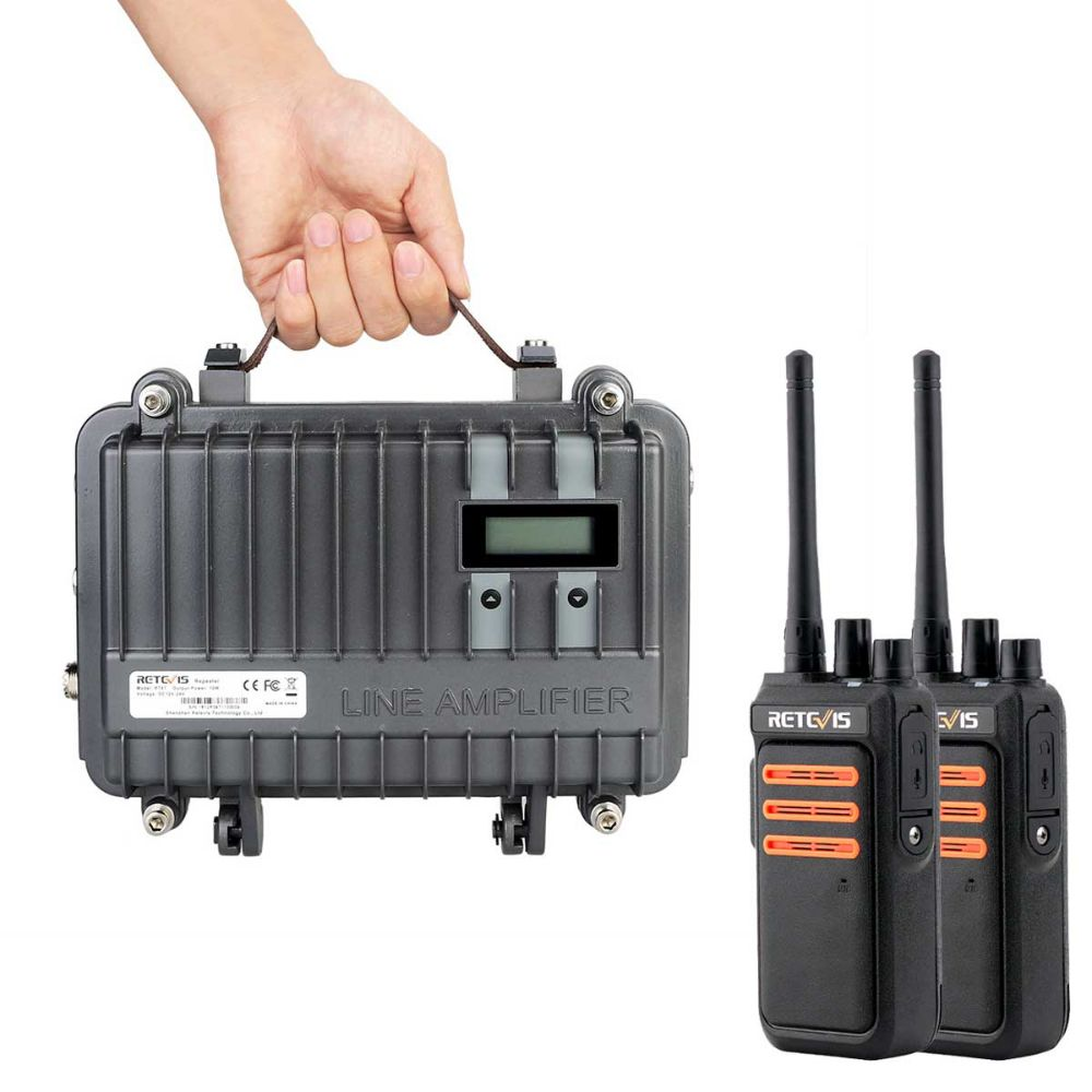 Mobile GMRS repeater RT97+Handheld GMR Radio RT76