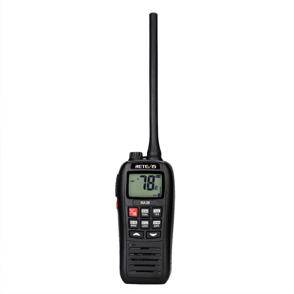 RA26 Waterproof IP67 Marine Handheld VHF Radio