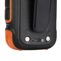 Retevis RB27B licence free flashlight and emergnecy alert 2w handheld radio back detail