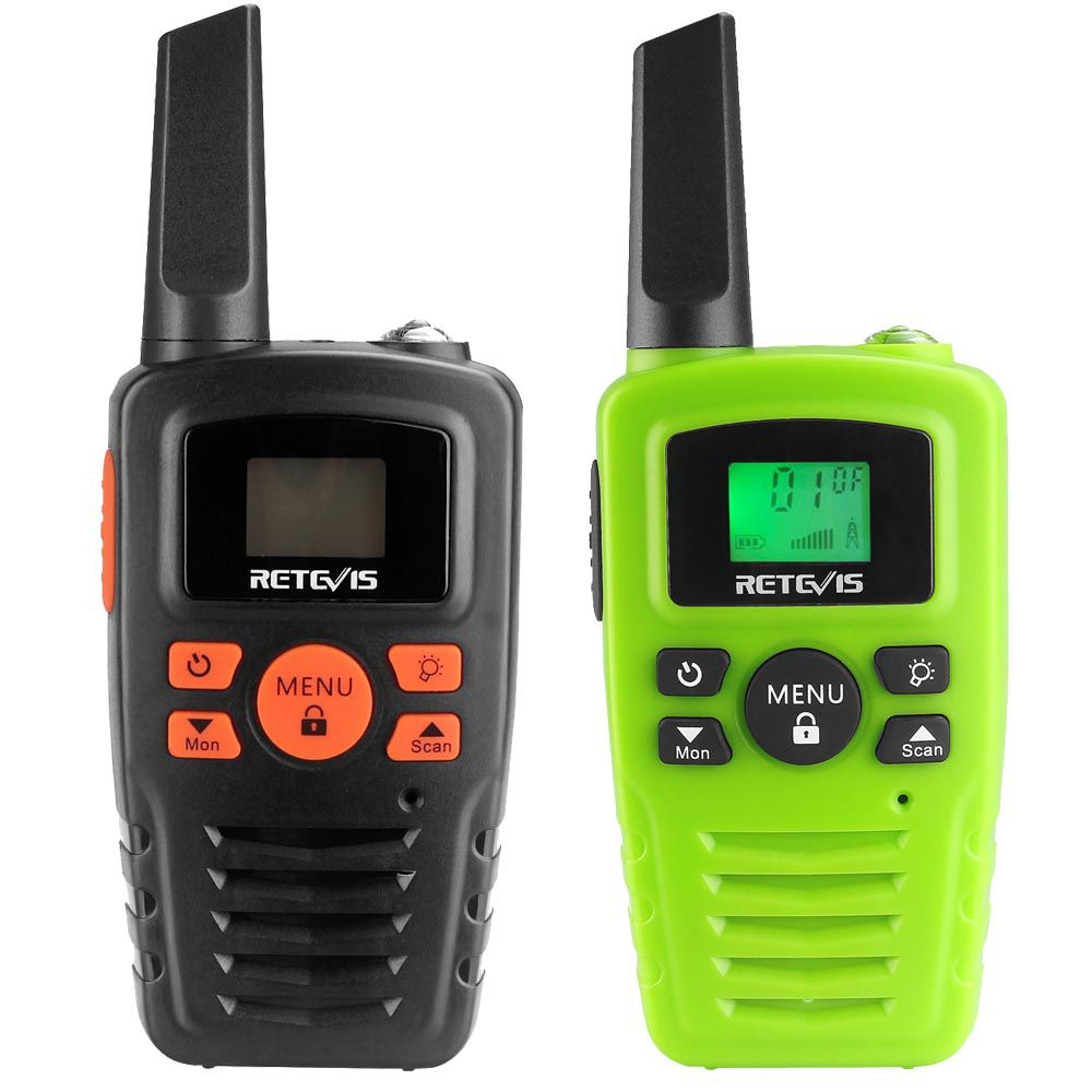 RA635 Black/Green Walkie Talkie for kids Long Distance Gifts Radio