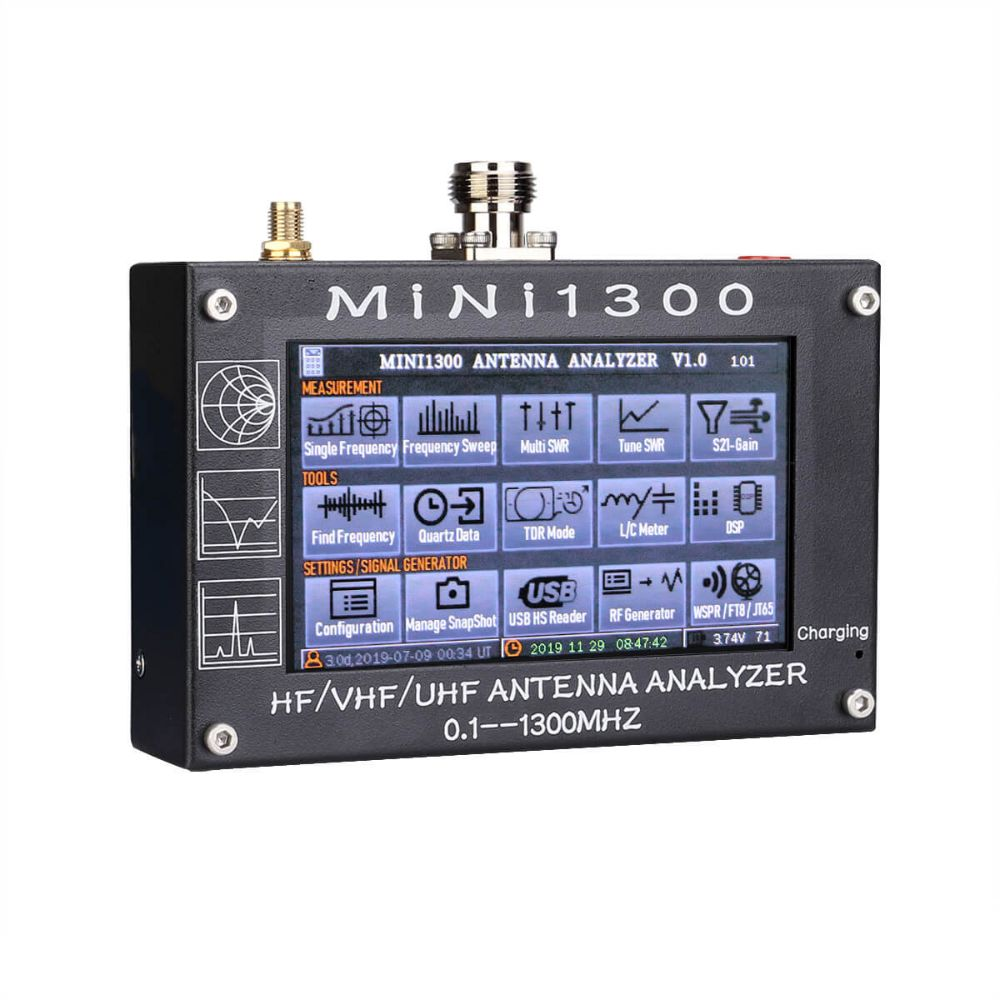 Mini 1300 HF/VHF/UHF 0.1-1300MHz SWR Antenna Analyzer