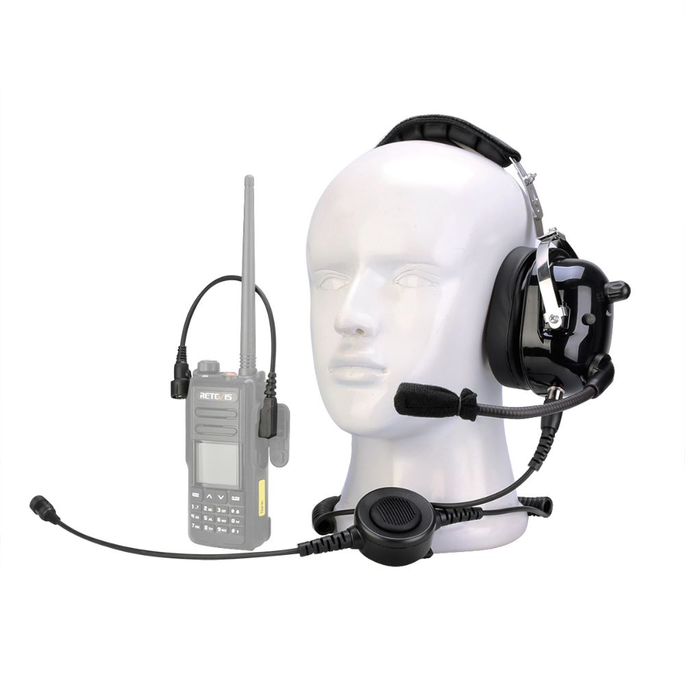 2 Pin Noise Cancelling Walkie Talkie Single Headset
