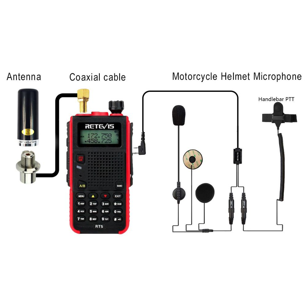 RMT02 Motorcycling Handheld Radio BUNDLE