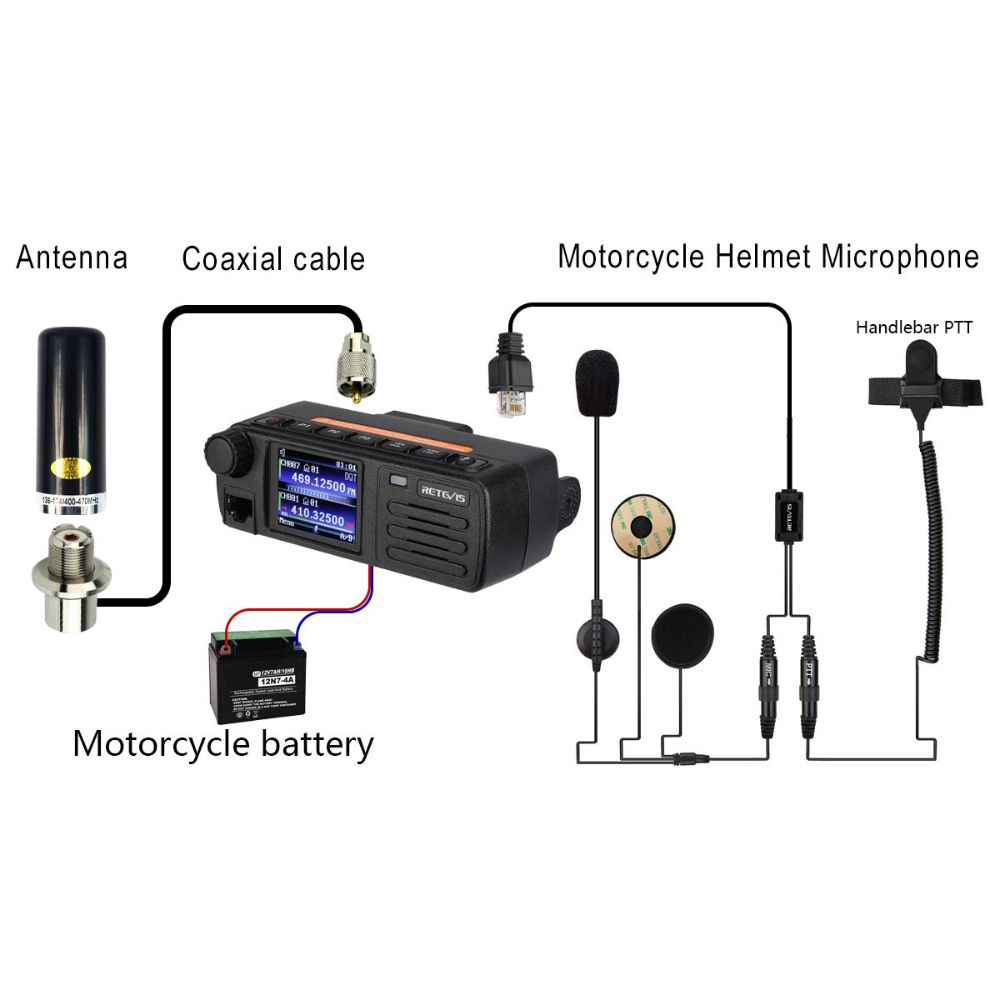 RMT03 Motorcycling DMR Mobile Radio BUNDLE