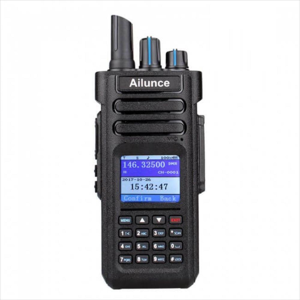 Ailunce HD1 WalkieTalkie Dual Band DMR UHF//VHF Compatible w// Motorola TierⅠ/&Ⅱ